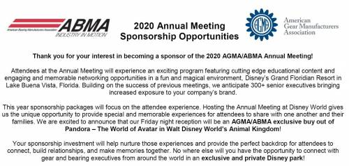2020 AGMA/ABMA Annual Meeting :: Events :: American Gear